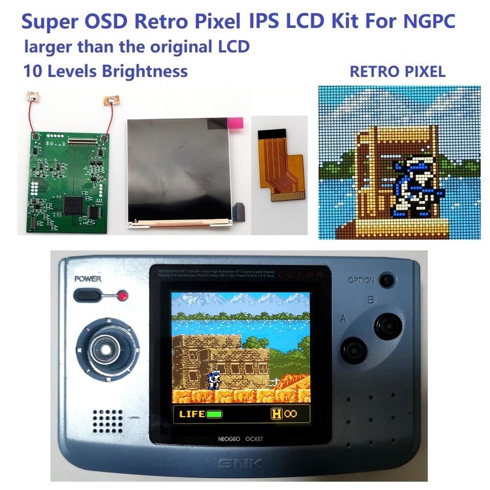 Süper OSD sürümü büyük ekran arkadan aydınlatmalı LCD için NGPC LCD NEOGEO cep renk oyun konsolu