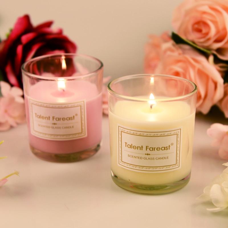Vela de cristal aromaterapia vela perfumada romántica vela perfumada hotel sin humo vela de cera de soja exquisito regalo
