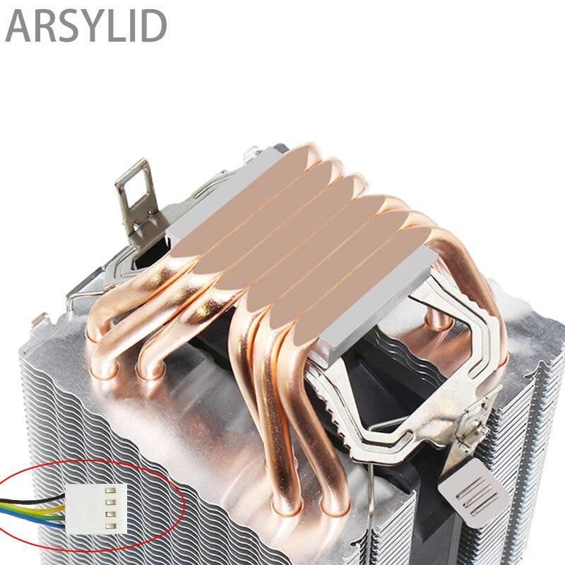 Hohe qualität 4PIN CPU kühler 115X 1366 2011,6 heatpipe dual-turm kühlung 9cm lüfter, unterstützung Intel AMD