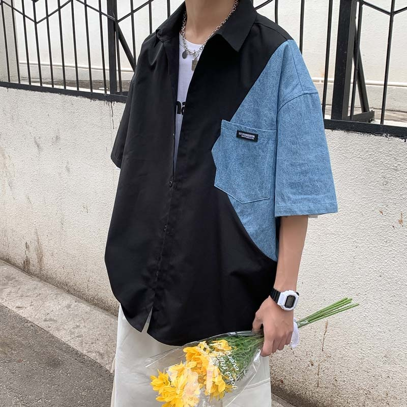 Мужская рубашка 2021 Новая летняя Стильная мужская рубашка в клетку Мужская рубашка с коротким рукавом мужская рубашка