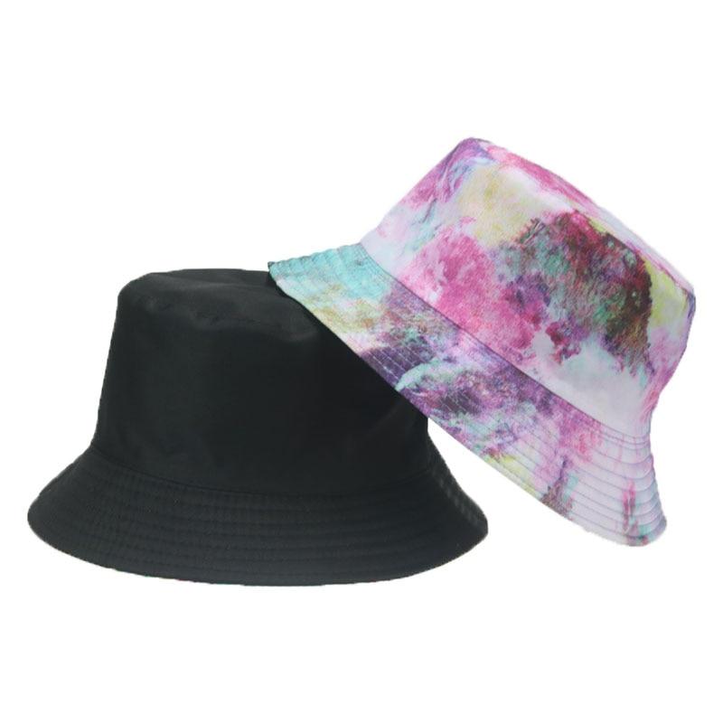 панама панама женская панама мужская кепка шляпа женская Панама женская двусторонняя с принтом, хлопковая пляжная шляпа красного и желтого...