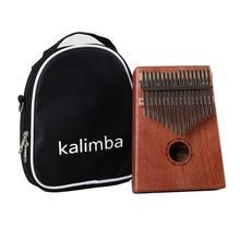 17 touches Kalimba Mbira Acacia acajou africain pouce Piano clavier Instrument Tuning marteau + manuel + autocollant + chiffon de nettoyage