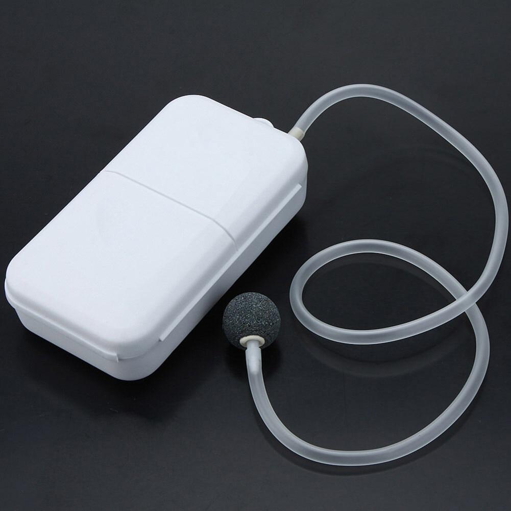 Portable Air Pump Fishing Aerator Oxygenated Live Bait Aquarium Battery Powered &T8