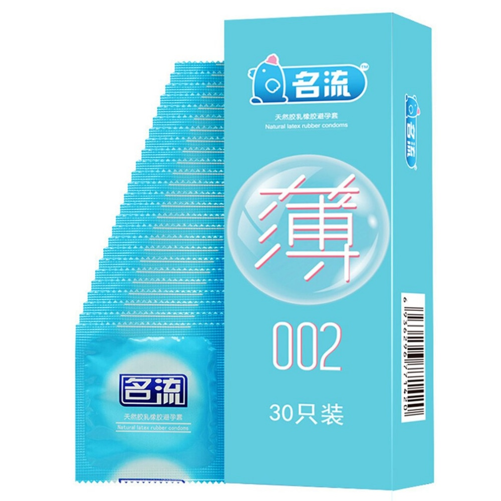 MingLiu Marke 30 stücke Ultra Super Dünne 002 Kondome Dünne Penis Sleeve Intime Duldet Kondom Erwachsenes Geschlechtsspielzeug Produkt für männer