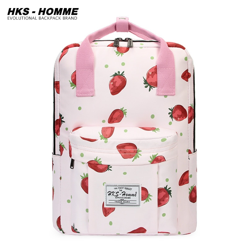 Women Backpack for Teenage Girls 2021 Printing New Fashion Female Casual School Students Shoulder Bags Sweet Travel Backpacks