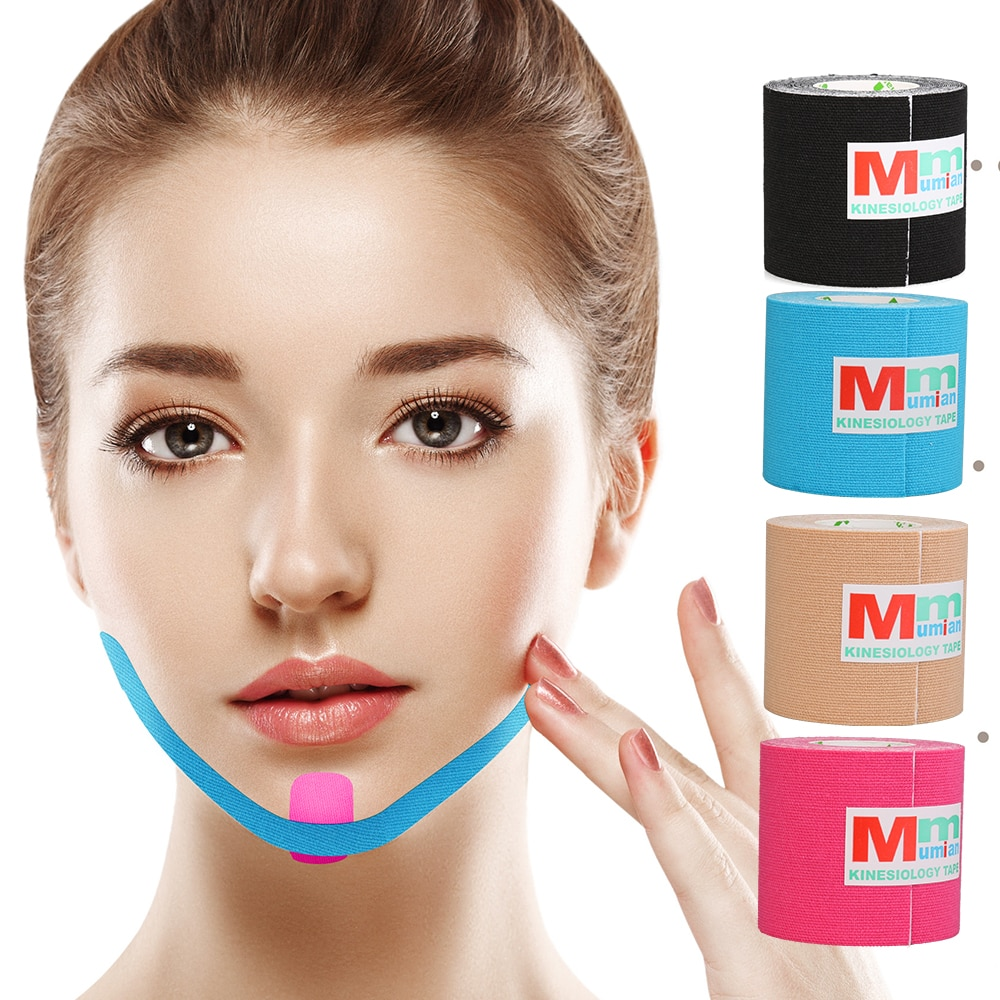 Kinesiotape Physiotherapie Muscle Pain Relif Tape Face Lifting Beauty Tape Tennis Volleyball Bandage