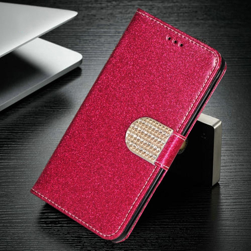 Funda de cuero con purpurina para Samsung Galaxy Grand Duos i9082 i9080...