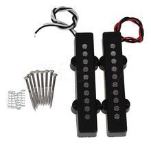 Yibuy 2 Stuks 10X1.7X1.8 Cm Keramische Magneet 5-String J Bass Pickup Met Open Enkele coil