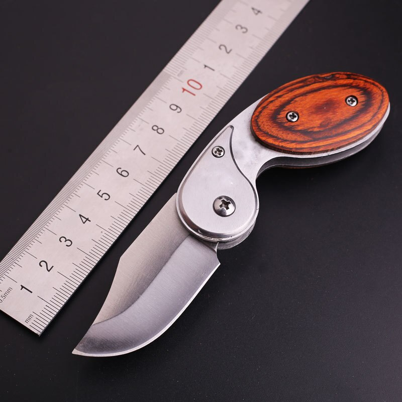 Cuchillos tácticos de supervivencia caza Camping Edc Multi bolsillo al aire libre cortador de frutas cuchillo plegable de hoja fija de buceo de acero inoxidable