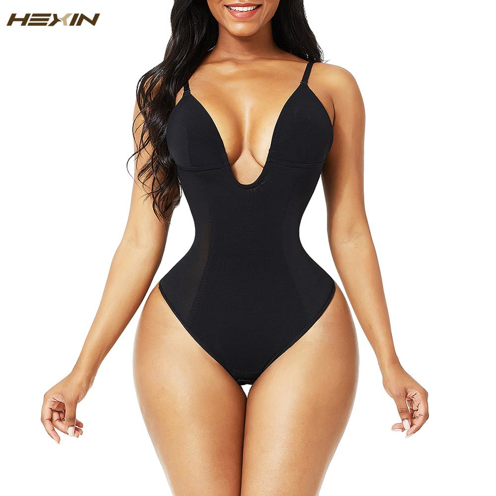 Для женщин Глубокий V-образный вырез, открытая спина, боди ремень с u-образным вырезом стринги Корректирующее нижнее белье, бесшовное нижнее белье, сексуальное женское белье невидимый бюстгальтер средства ухода за кожей-0