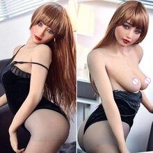 Poupée de sexe 163cm réel Silicone taille japonaise adulte Anime pleine Sexy amour poupée jouets réalistes pour hommes gros seins cul vagin chatte