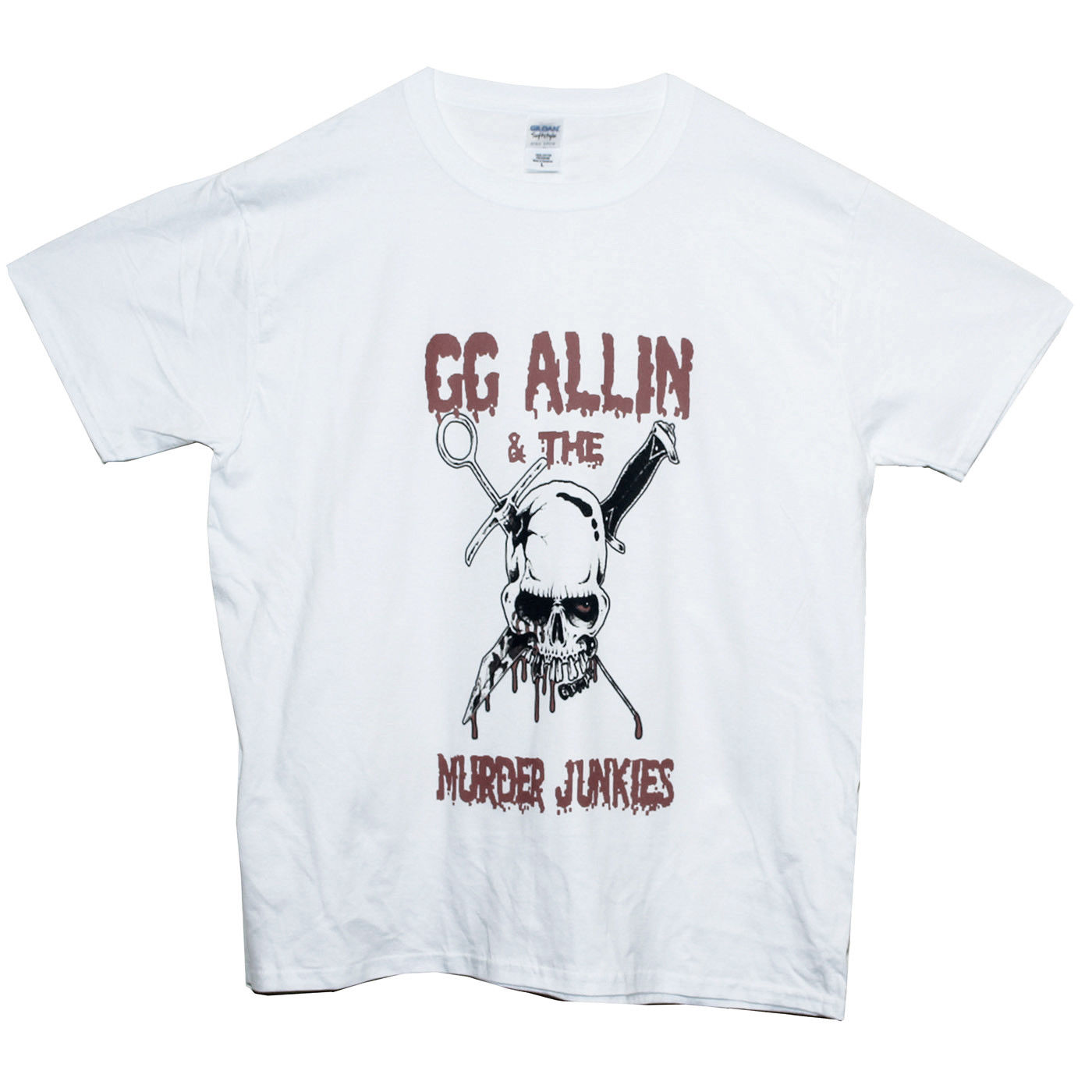 Gg allin e os viciados assassinato t camisa hardcore punk banda de metal gráfico t