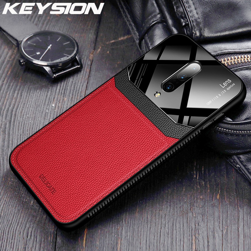 Кожаный чехол KEYSION для OnePlus 7 7 Pro, ударопрочный силиконовый чехол с зеркальным стеклом для задней панели телефона Oneplus 6T 1 + 7 One plus 7 7 Pro