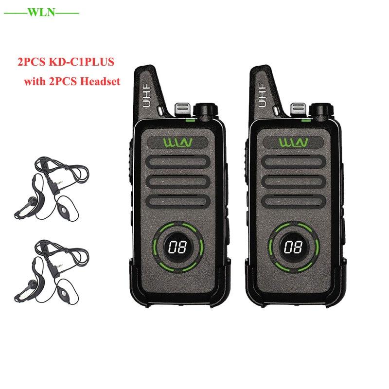 2 pces wln KD-C1Plus rt22 x6 mini rádio walkie talkie pmr frs vox recarregável 16ch uhf em dois sentidos estação de rádio