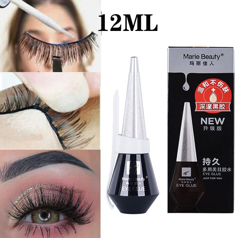 12ML Quick Dry False Eyelash Glue Black /Transparent Waterproof Long Lasting Adhesive Eyelash Extension Glue Eye Makeup Tools недорого