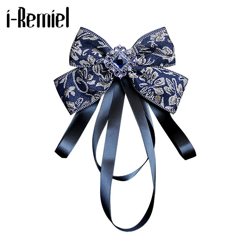 i-Remiel High-end Mens Necktie Big Ribbon Bowknot Rhinestone Bow Tie for Groom Best Man Wedding Shirt Clothhing & Accessories