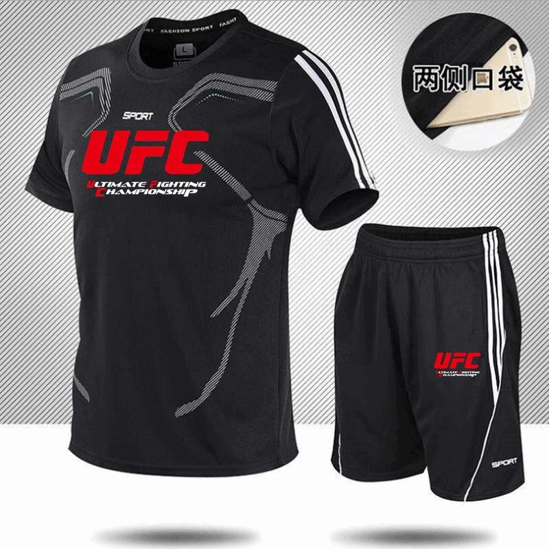 2022, Мужская футболка бренда Zomer, набор 2 штуки, мужская спортивная одежда, одежда для смешанных боевых искусств, спортивная одежда для фитнес...