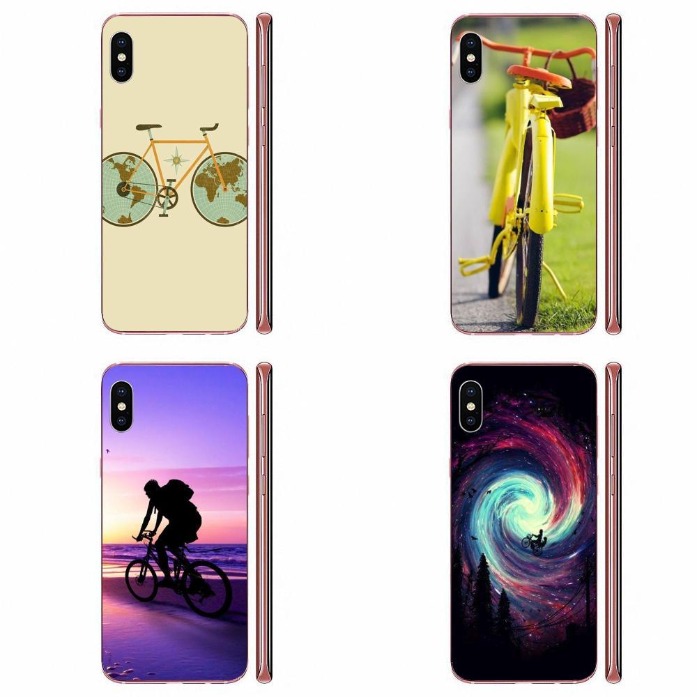 Funda transparente de TPU para Apple iPhone 4, 4S, 5, 5C, 5S, SE, SE2, 6, 6S, 7, 8, 11 Plus, Pro X, XS, Max, XR, para bicicleta de viaje