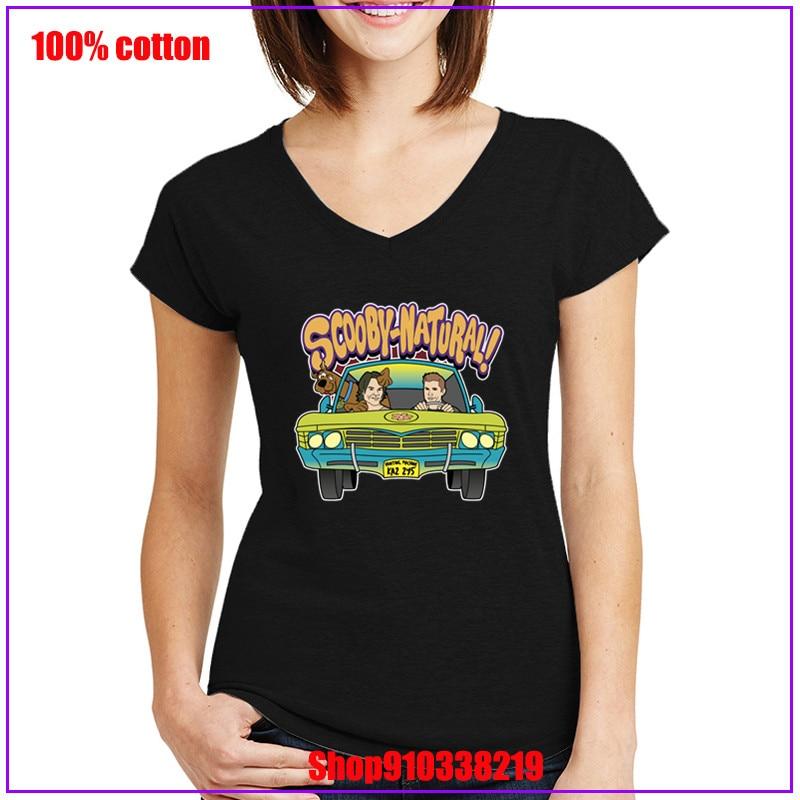 2020 camiseta Supernatural para mujer, camiseta Casual, camiseta, ropa femenina, camiseta de verano con cuello en V