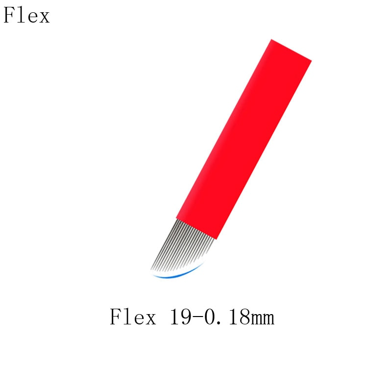 19 Slope 0.18 MM Blade Needles For Manual Pen Pigment Use Eyebrow Tattoo Permanent Makeup Products S