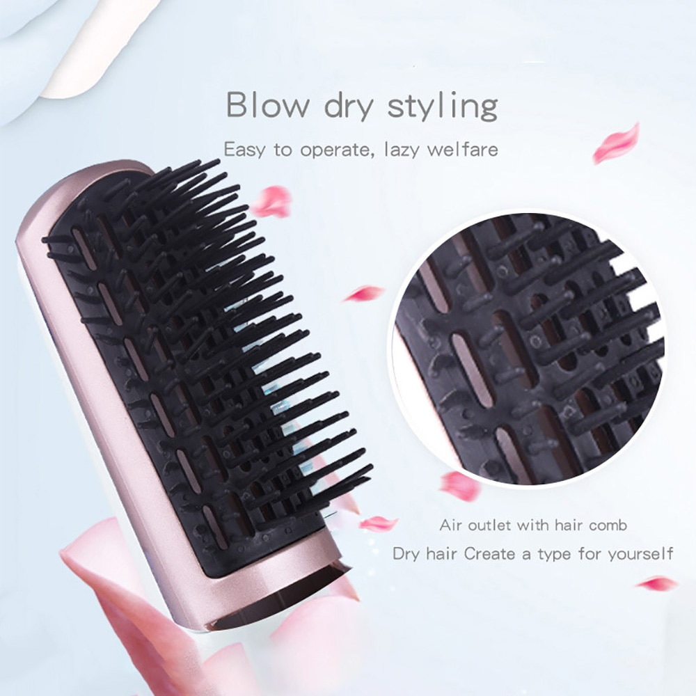 Multi-function Negative Ion Brush Comb Hair Brush Straightener Electric Hair Dryer Brush Dual-purpose Hot Air Brush Anti-ironing enlarge
