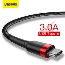 Baseus-Cable USB tipo C de carga rápida 3,0, accesorio para Samsung S10, S9, Huawei P30, Xiaomi, USB-C