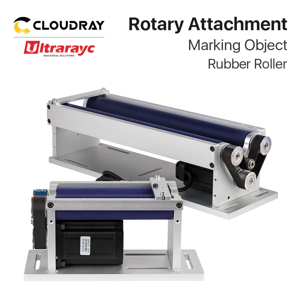 Ultrarayc Rotary Worktable Rotary Attachment 2 Phase Stepper Motor Nema 24+Driver for Laser Marking Cylindrical Objects DIY Part