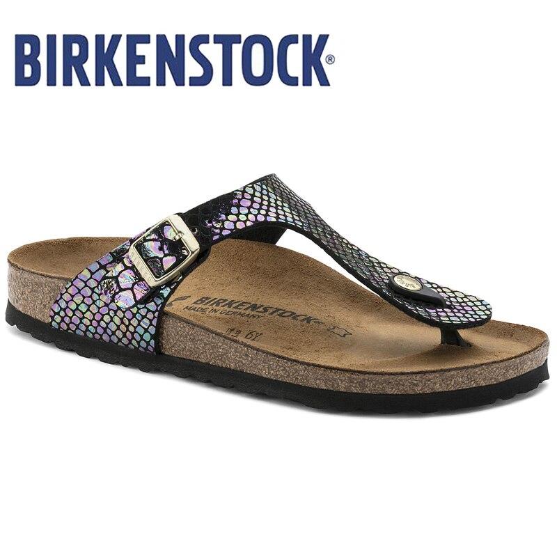 BIRKENSTOCK Sandalen Frauen Flip-Flops Strand Sommer Mode Sandalen Für Frauen Flache Hausschuhe Schuhe Flip Flops Alias 801