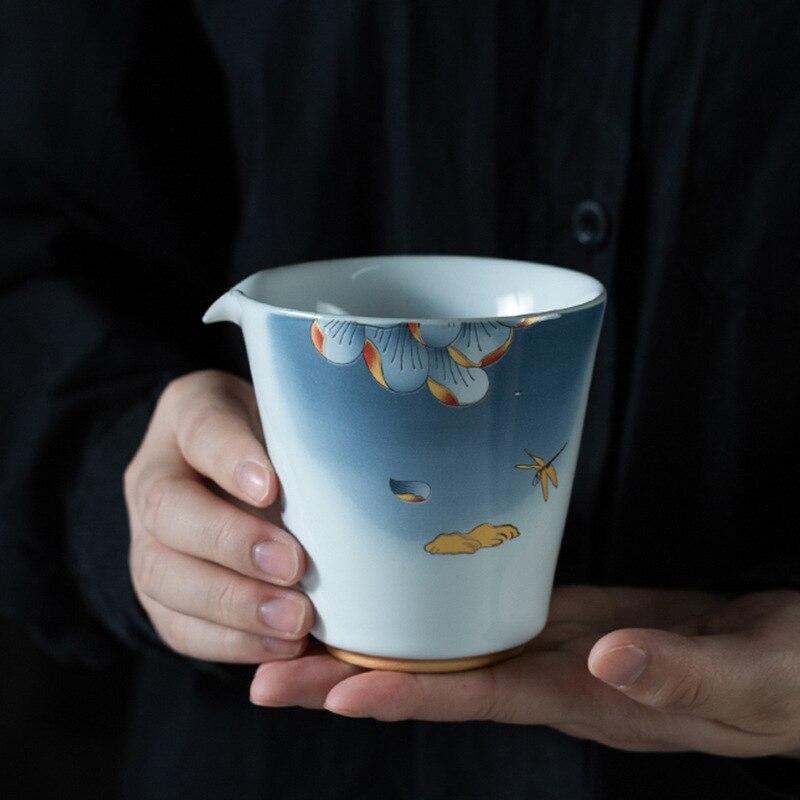 طقم شاي كبير من البورسلين ، طقم إبريق كبير للكونغ فو ، إكسسوارات شاي ، إبريق شاي ، تشاهاي غونج داو باي