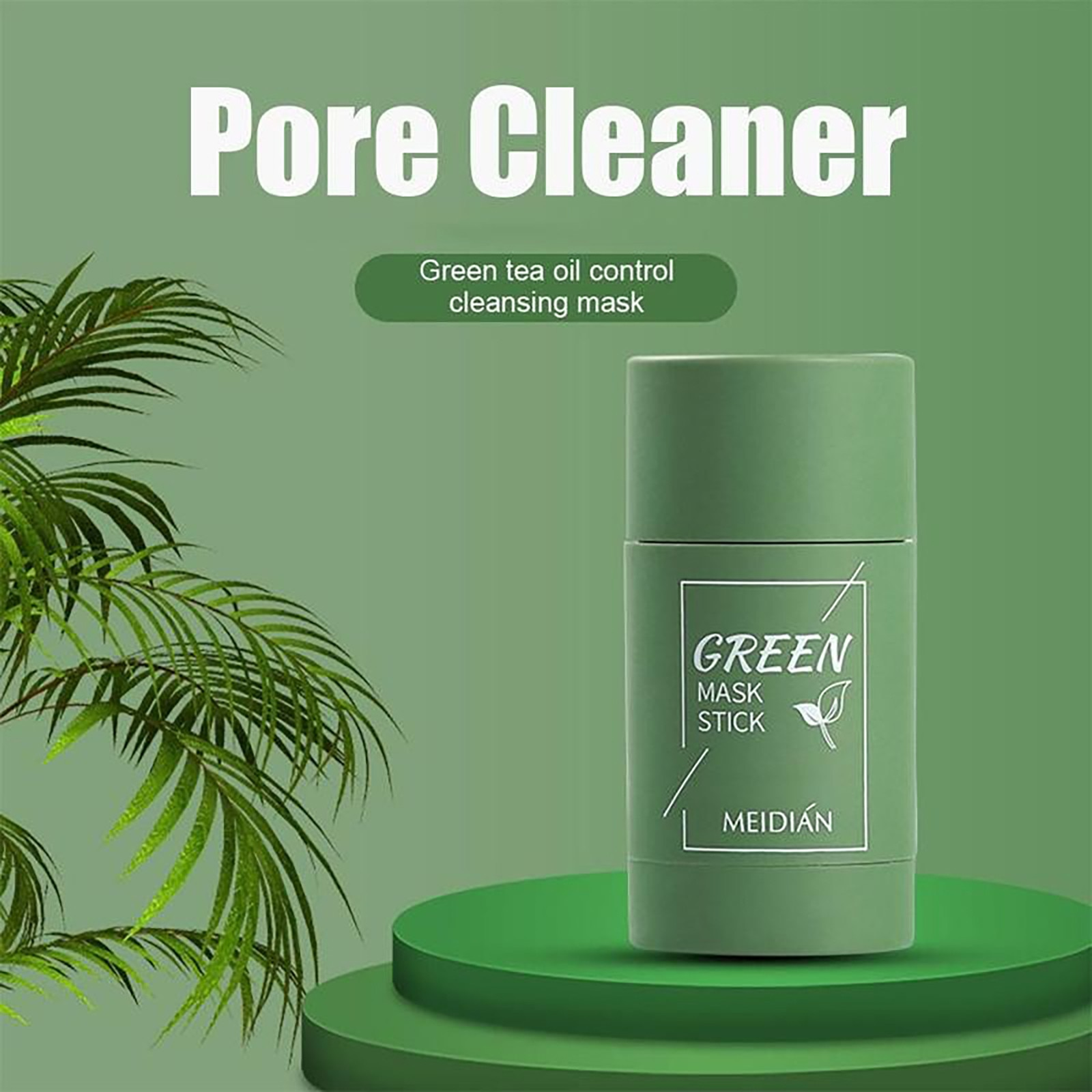 Green Tea Purifying Masks Clay Stick Oil Control Anti-Acne Eggplant Solid Fine Cleaning Mask Skin Ca
