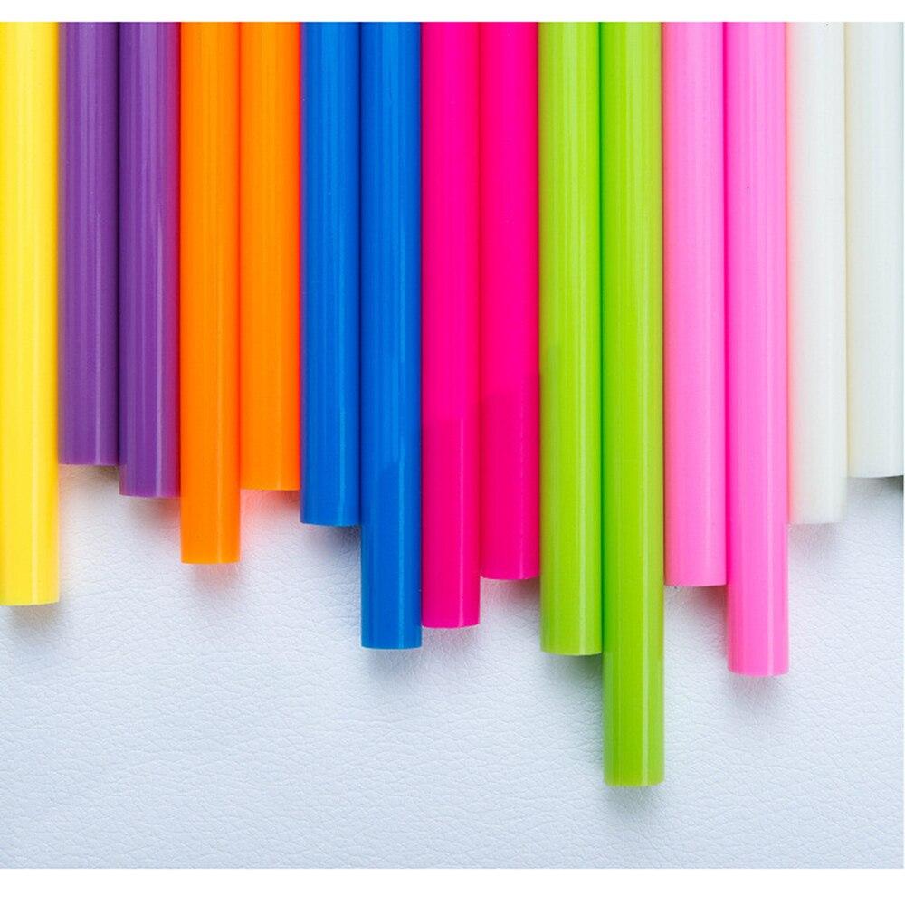 Цветные палочки для термоплавкого клея 7 мм, клей в ассортименте, блестящие клеевые палочки, профессиональные для электрического клеевого пистолета, ремесло, ремонт