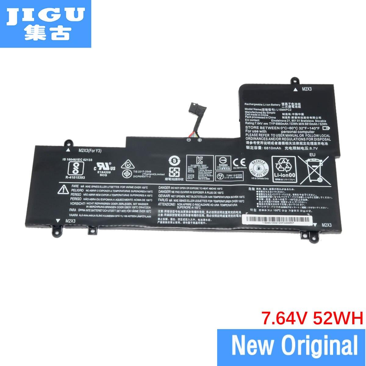 Batería Original JIGU para ordenador portátil 5B10K90802 L15L4PC2 L15M4PC2 para Lenovo para Yoga 710 7,64 V 52WH