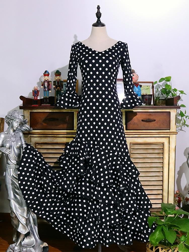 فستان رقص إسباني فلامنكو للنساء ، تنورة تدريب ، GI03
