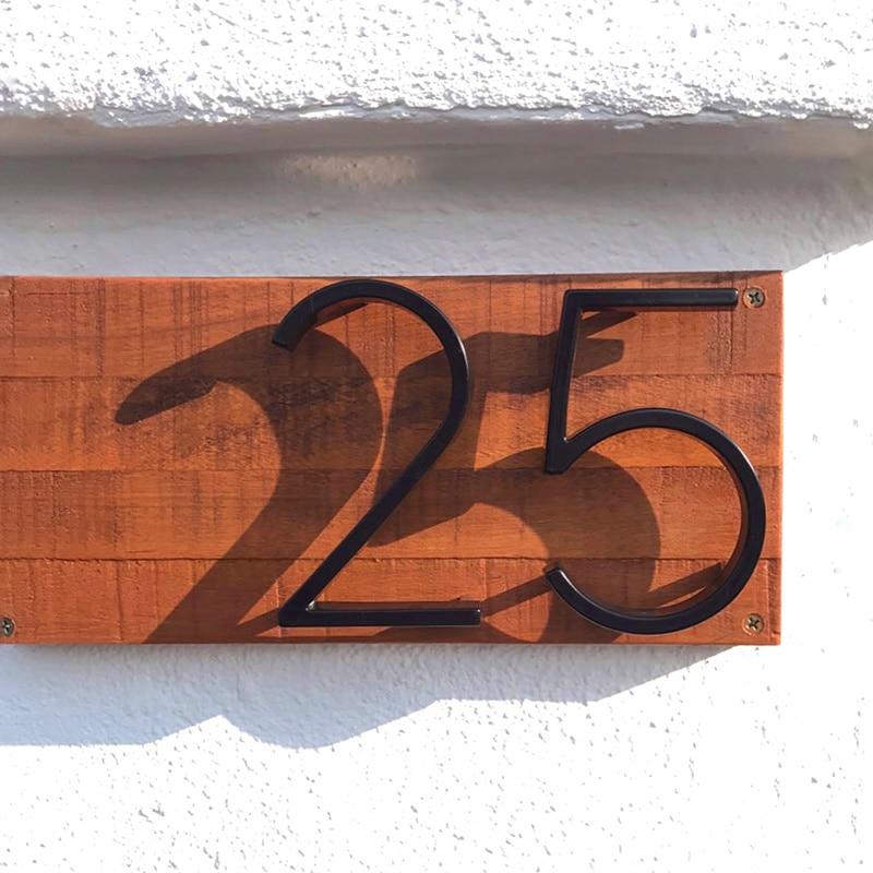 Cartel para Número de puerta de 12cm, moderno edificio flotante al aire...