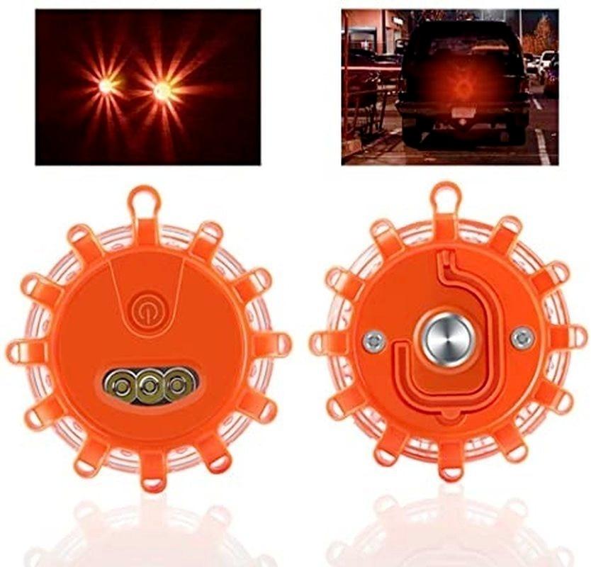 3pcs/set Road Flares Car Emergency Light Help Flash Beacon V16 Approved Dgt Flare Safety Warning Police Lights Magnetic Strobe enlarge