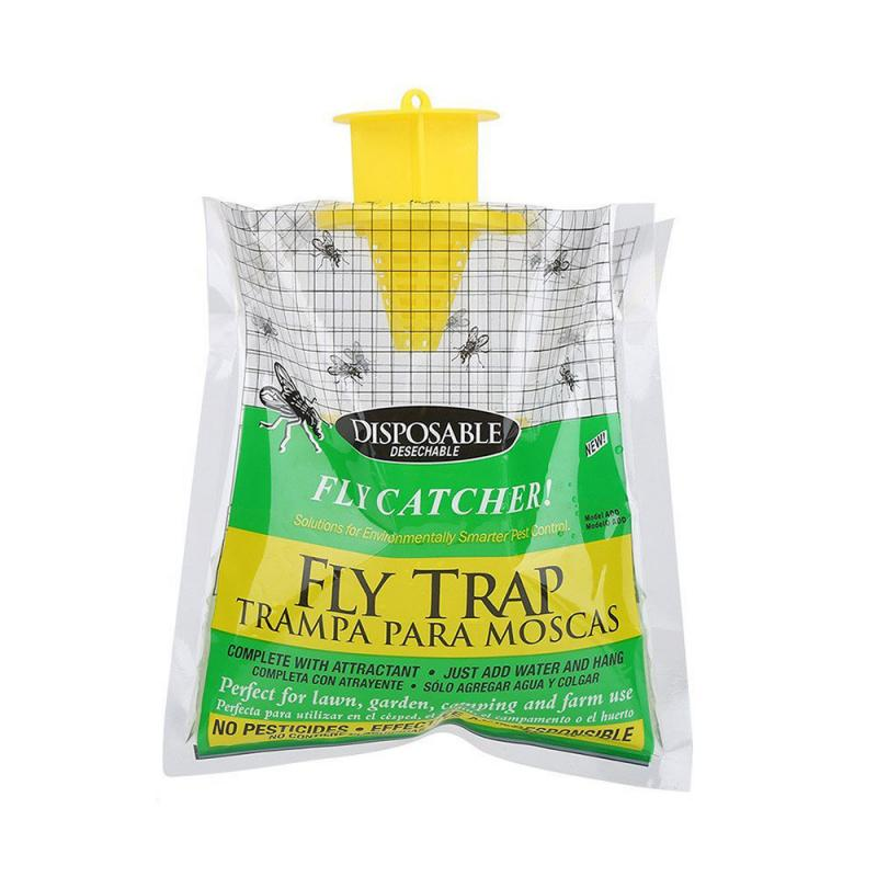 Flycatcher Bag Home Garden Outdoor Disposable Fly Catcher Control Trap Insecticide Flies Flycatcher