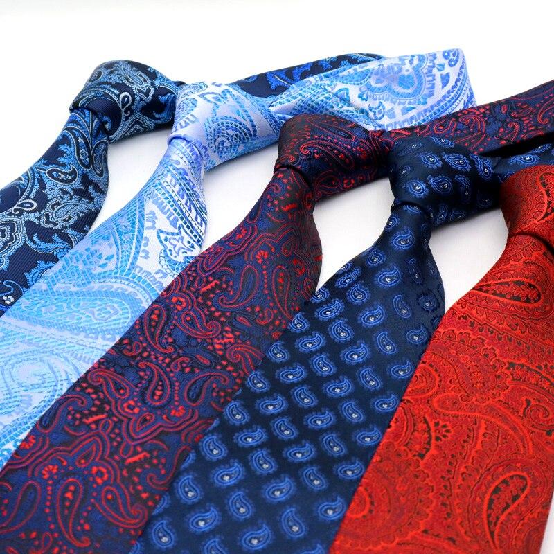 YISHLINE NEW Paisley Classic 8CM Mens tie plaids Man Neck Ties Fashion Neckwear Bridegroom Business Wedding Tie Men Accessories недорого