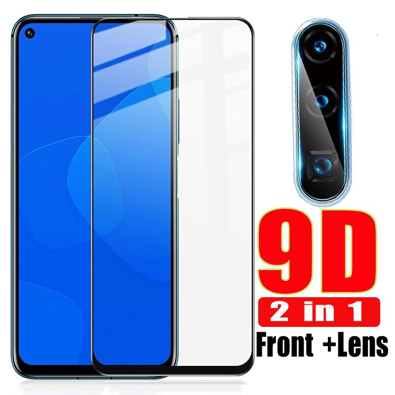 2 в 1 9D стекло для huawei Honor 20 Pro закаленное стекло на Honor 10 20 Lite объектив камеры пленка защитная Glas Honor20 10lite светильник