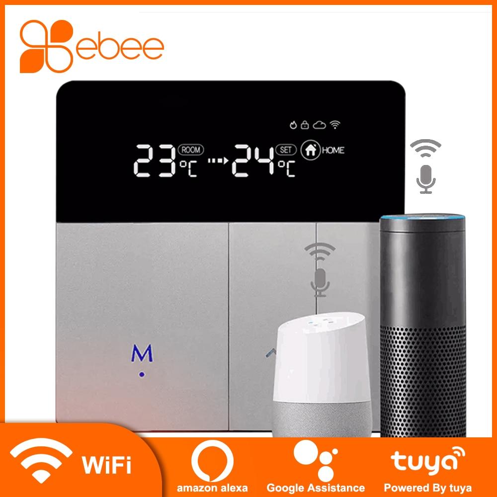 EBEE-termostato inalámbrico inteligente, WiFi, controlador de temperatura para suelo radiante, calefacción de agua, funciona con Google Home, Alexa