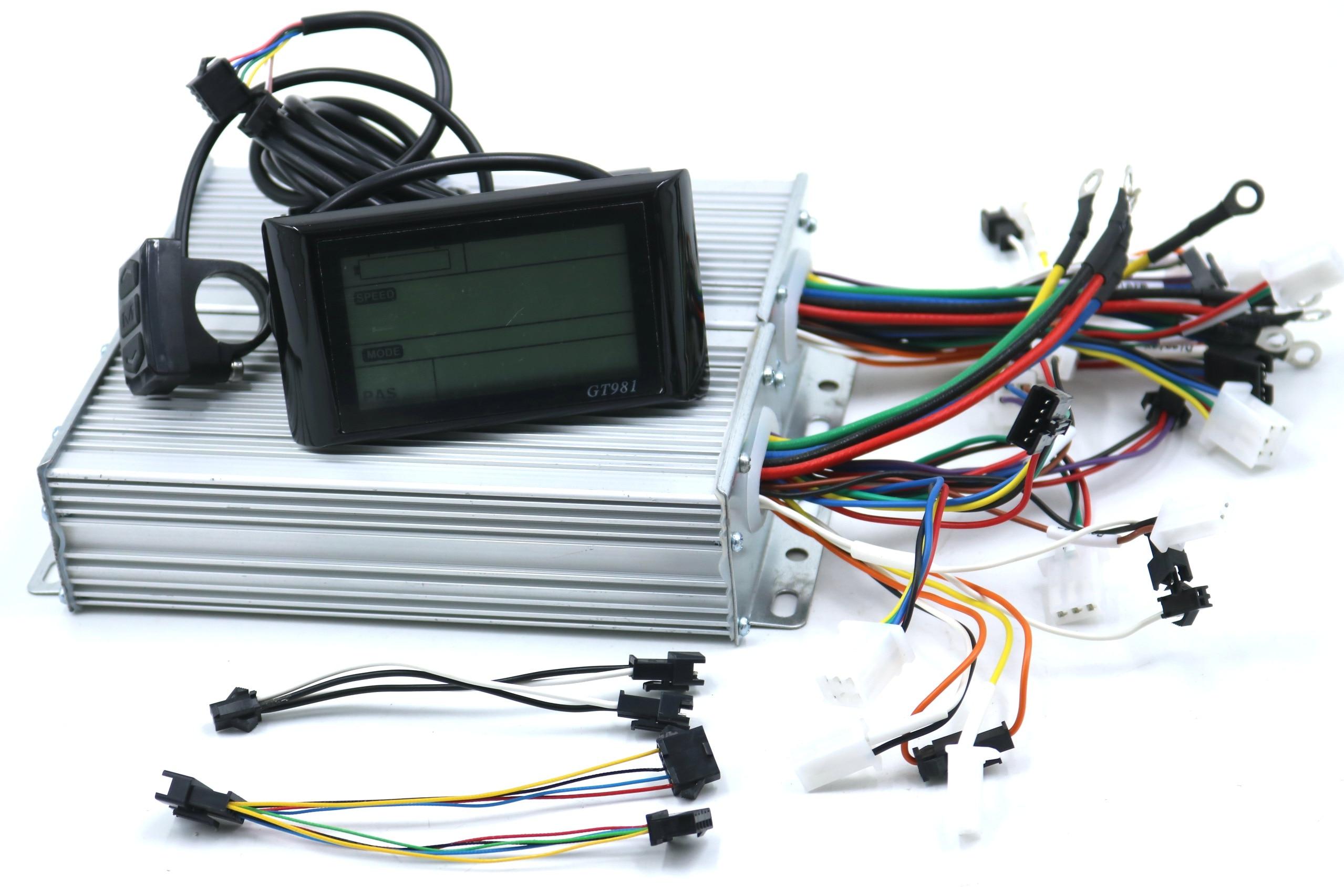 محرك مزدوج 48/60/72V 1500W BLDC الكهربائية سكوتر تحكم E-الدراجة 2 قطعة فرش سرعة سائق و 1 قطعة GT981 عرض مجموعة واحدة