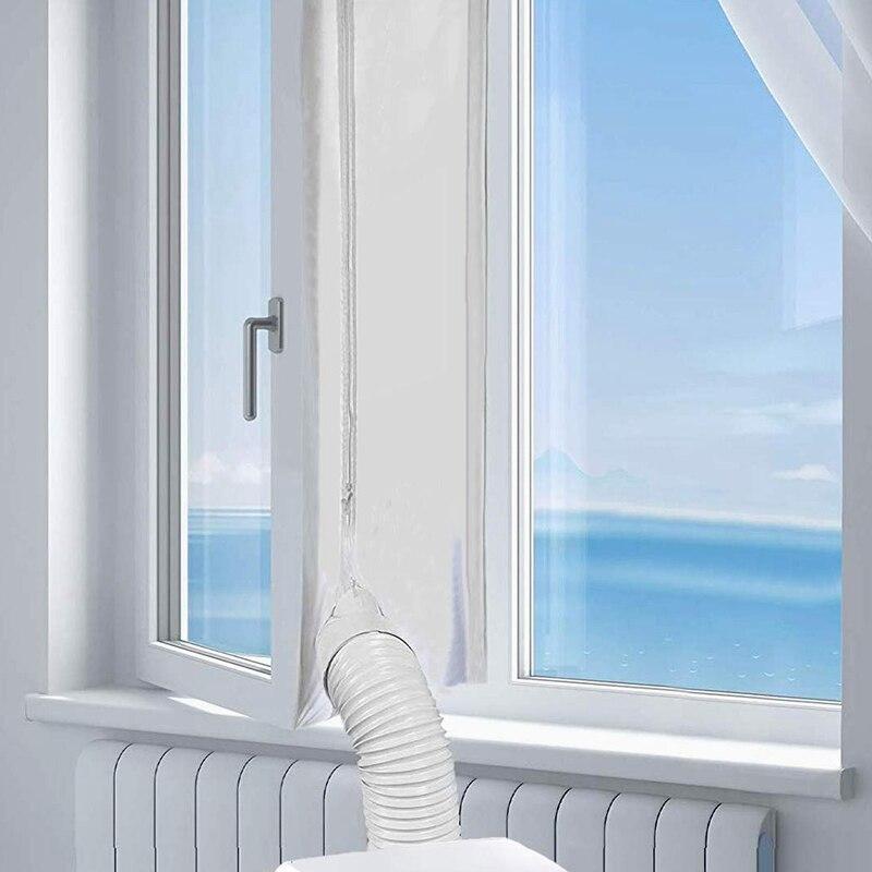 O selo flexível da janela da placa de selagem de pano de 400 cm com fecho de correr e adhesi fashionairlock para o condicionador de ar portátil