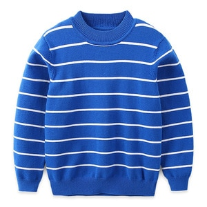 Children's sweater boys' and girls' round neck striped sweater