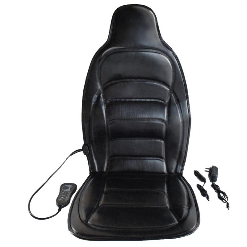 Cojín de vibración para masaje corporal, colchoneta para masaje de espalda y cuello, silla de MASAJE relajante, asiento de coche, 12V
