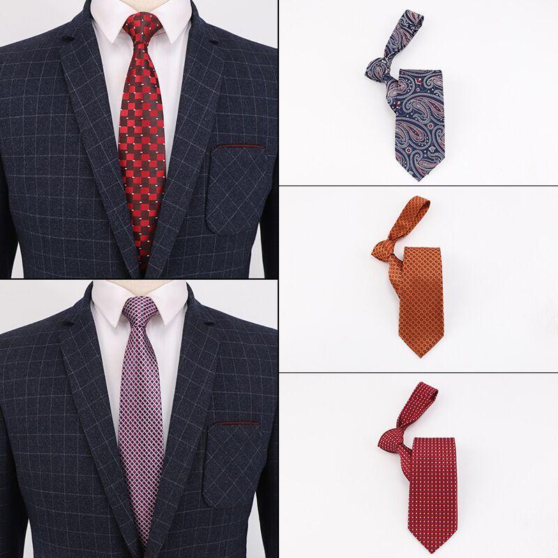 Corbatas de varios estilos para hombre, accesorios escolares para boda, 8 cm, vestido de fiesta de boda
