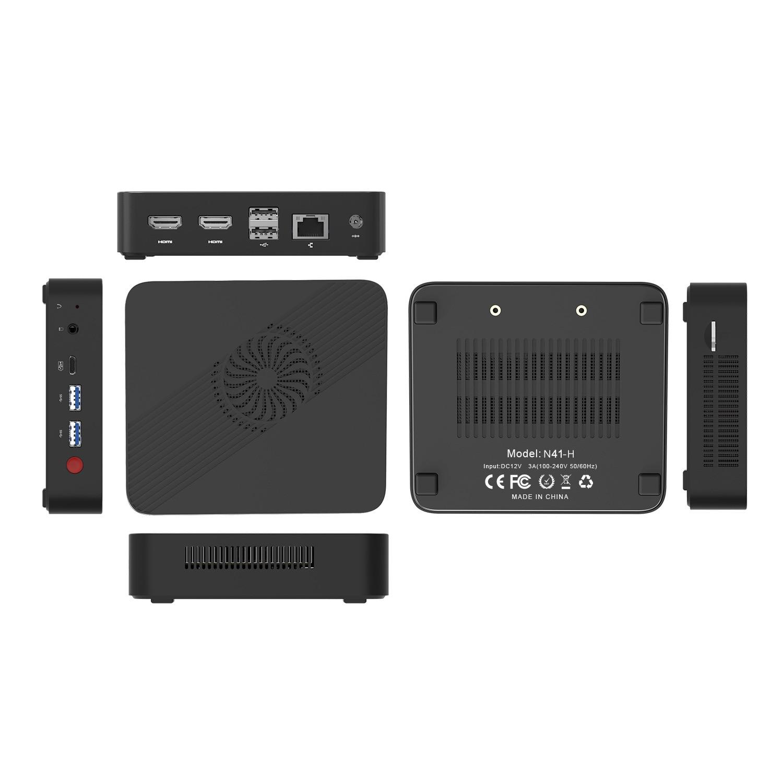 MINI PC N4100 3 screen 4K video display output Dual HDMI home office 8GB/128GB