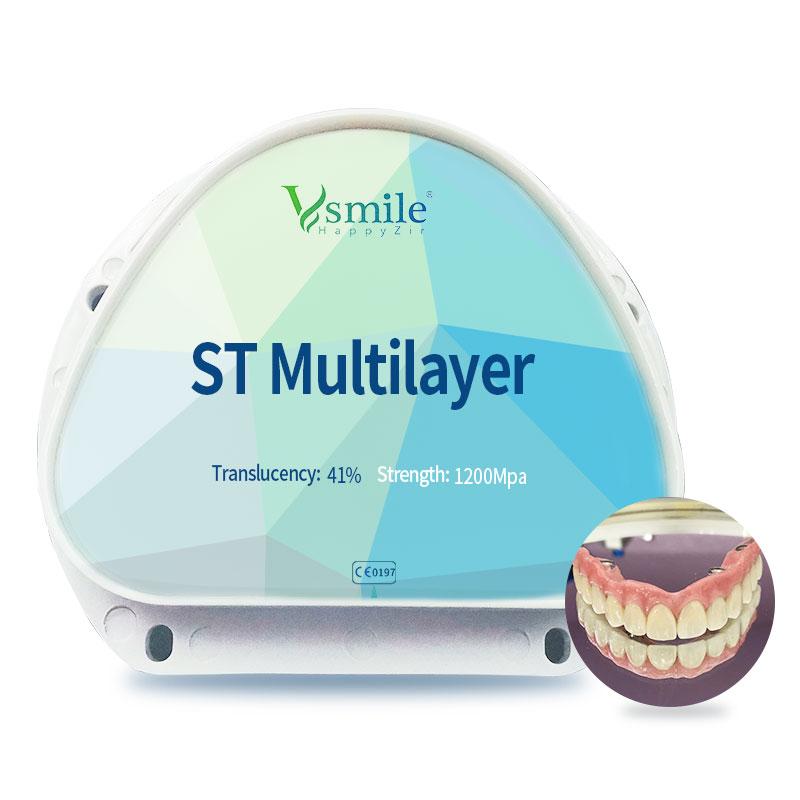 A1/A2/A3 Zolid Multilayer Zirconia Block ST ML for AG CADCAM System DentalZirconiaBlocks dics