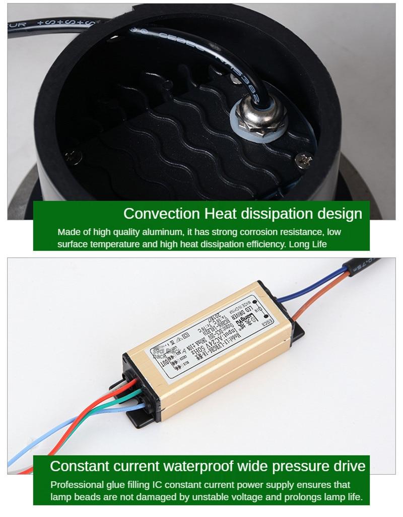 30W 50W Underground Garden Lights Outdoor Light Ip67 Outdoor Floor Led Outdoor Recessed Led Spotlight Underground Lamp 24V 12V enlarge