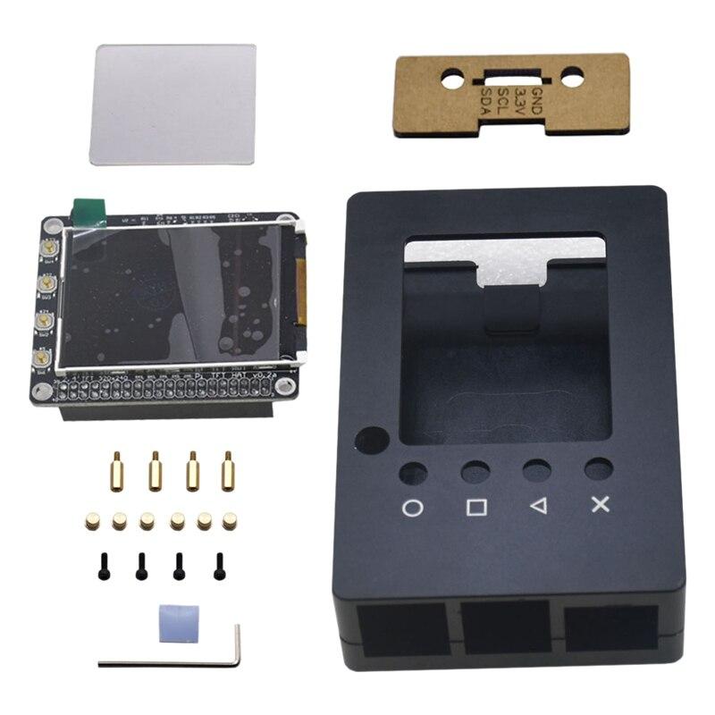 غلاف ألومنيوم LCD Sn 2.4 بوصة ، مع وظيفة الأشعة تحت الحمراء لـ Raspberry Pi 4B/3B/2B/B/A