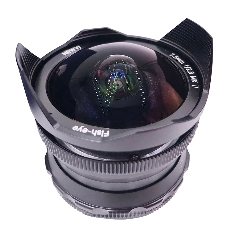 Newyi 7.5Mm F2.8 Fisheye Mirrorless Camera Lens Optimaliseren Imaging Mount EF-M Amp Voor Canon Eos M