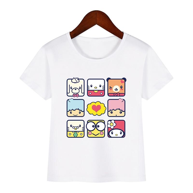 Girls Clothes 10 12 Year Graphic T Shirts XXX Boys and Girls Summer Tops Catoon Anime Tee Shirt Garcon Streetwear Kids T Shirt